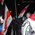 Manifestacja przed Ambasadą Białorusi w Warszawie